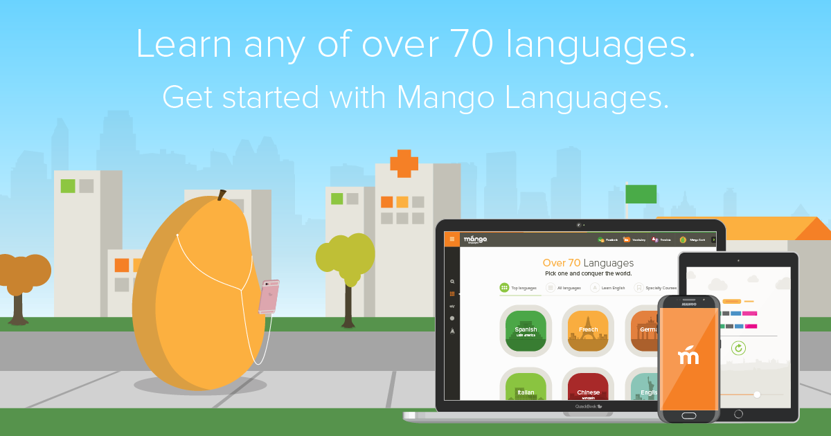 Learn any of over 70 languages