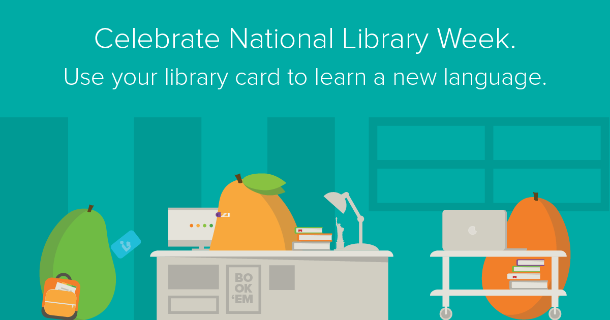 Celebrate National Library Week button